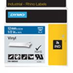 Dymo Rhino Vinyl Tape 12mm Black/White18444