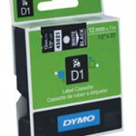 Dymo 1000/5000 Tape 12mm x7m White/Black 45021 S0720610