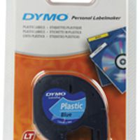 Dymo Letratag Plastic Tape 12mm x4m Ultra Blue S0721650