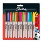 Sharpie Marker Fine Assorted Pk 12 S0811070