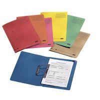 Elba Spirosort Spring File Foolscap Blue 100090159