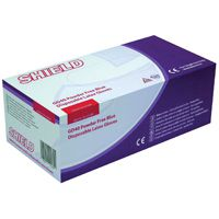 Shield Powder-Free Latex Gloves Blue Medium Pk 100 Gd40