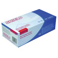 Shield Powder-Free Vinyl Gloves Blue Medium Pk 100 GD14