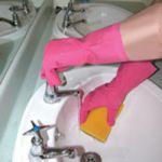 Shield Household Rubber Gloves Medium Pink GR01P