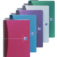 Oxford Notebook A4 Soft Polypropylene Cover Assorted Ruled Feint Pk 5 100101918