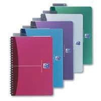 Oxford Notebook A5+ Soft Polypropylene Cover Assorted Ruled Feint Pk 5 100101300