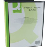 Q-Connect Presentation Display Book 100 Pocket Black