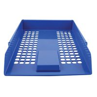 Q-Connect Letter Tray Plastic Blue CP159KFBLU