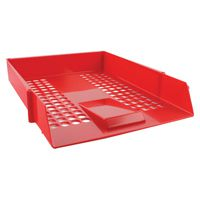 Q-Connect Letter Tray Plastic Red CP159KFRED