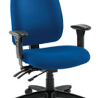 Avior Snowdon Heavy Duty High Back Chair With Lumbar Support Blue