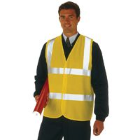Proforce High Visibility 2-Band Waistcoat Yellow Extra Large HV08YL480