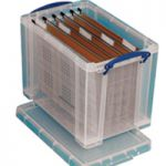 Really Useful 24L Suspension File Box Foolscap Clear 24C