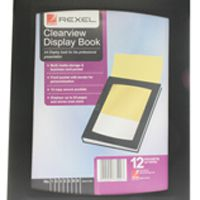 Rexel ClearView Display Book A4 Black 12 Pocket 10300BK