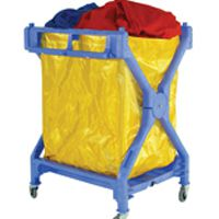 Folding Laundry Trolley Blue 314176