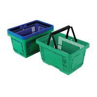 Plastic Shopping Basket Pk12 Green 370767