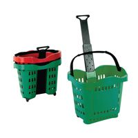 Giant Shopping Basket/Trolley Green .