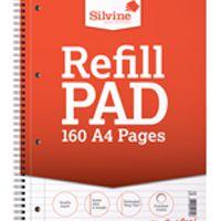 Silvine A4 Twin Wire Sidebound Refill Pad 80 Leaf Pk6 S80Y