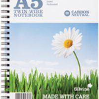 Silvine Carbon Neutral A5 Twin Wire Notebook 120 Pages Ruled (Pk 5) R303