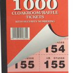 Silvine Cloakroom Ticket 1-1000 Pk6 1000-T