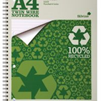 Silvine A4 Everyday Recycled Wiro Notebook (Pk 12) TWRE80