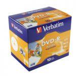 Verbatim DVD-R 16X Wide Inkjet Printable ID Pk 10 43521