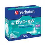 Verbatim DVD-RW 4X 4.7GB Pk 5 43285