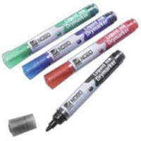 Nobo Liquid Ink Drymarker Assorted (2 x black 2 x red and 1 x blue 1 x green)