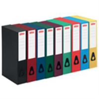 A4 Coloured Box Files Black