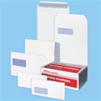 Premium Sure-Seal Envelopes Plain White Peel and Seal DL 110 x 220mm 110gsm Pack of 500