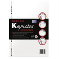 Oxford Black & Red A5 Keynotes Plain