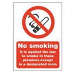 Designated Smoking Advisory Sign