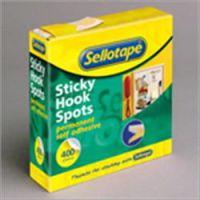 Sellotape Sticky Velcro 22m Hook Spots