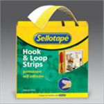 Sellotape Sticky Velcro 20mm x 5m Hook/Loop Strips