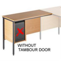 Basic Solutions Return Unit without Tambour Door Beech