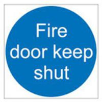 Sign Fire Door KeEP Shut