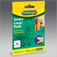Sellotape Sticky Velcro 96 Loop Pads