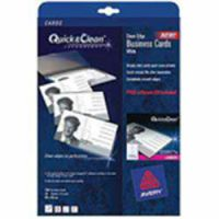 Avery Quick and Clean Laser Business Cards Mono 10 Per Sheet