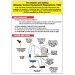 The Health and Safety (Display Screen Equipment) Regulations 1992 Laminated Poster A2