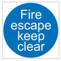 Fire Escape Door Sign