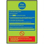 Self Adhesive Sign Luminous Fire Instruction 210 x 297mm