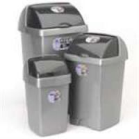 Addis Roll Top Metallic Bin 24 Litre