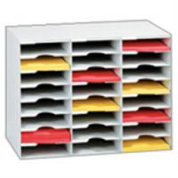 FastPaper Literature Organiser Grey 36 Compartment
