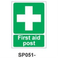 Sign First Aid Post Vinyl 150 x 200mm