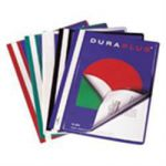 Durable Duraplus Report Files with Title Page Red