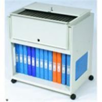 Rotadex Suspension File Filing Trolley - Plus Storage Shelf and Lockable Lid