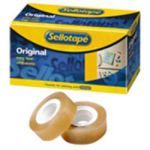 Sellotape Original Clear Small Core Tape 19mm x 33m