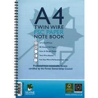 Silvine Environmental Feint-Ruled and Margin Twinwire Notebook A4 Punched 4 Holes