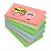Post-it Recycled Notes 76 x 127mm Assorted pink blue light green grass green & Grey