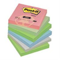 Post-it Recycled Notes 76 x 76mm Assorted pink blue light green grass green & Grey