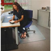 Polycarbonate Clear Rectangle Hard Floor Mat 119 x 89cm